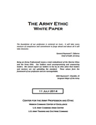 Army Ethic White Paper