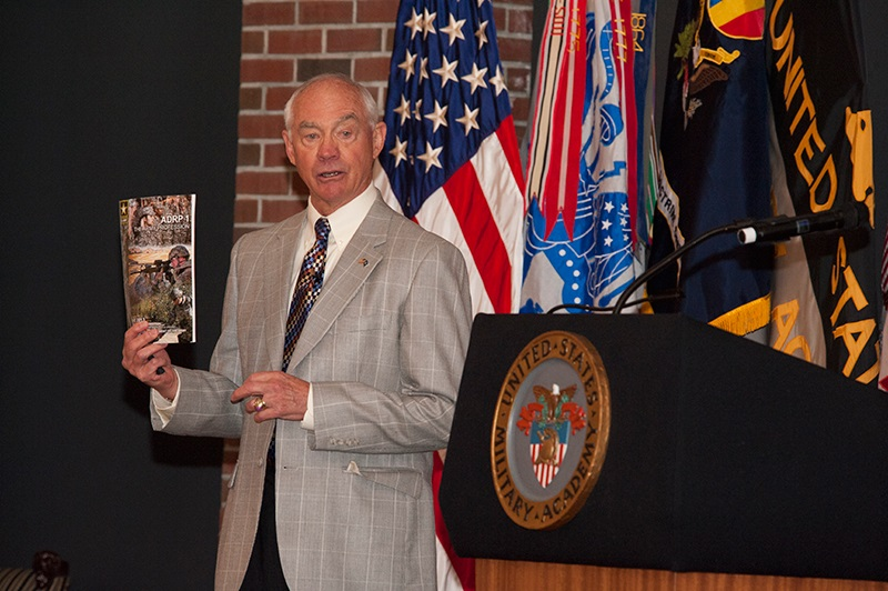 Dr. Don M. Snider speaks during the 2014 Army Profession Annual Symposium at West Point, NY.