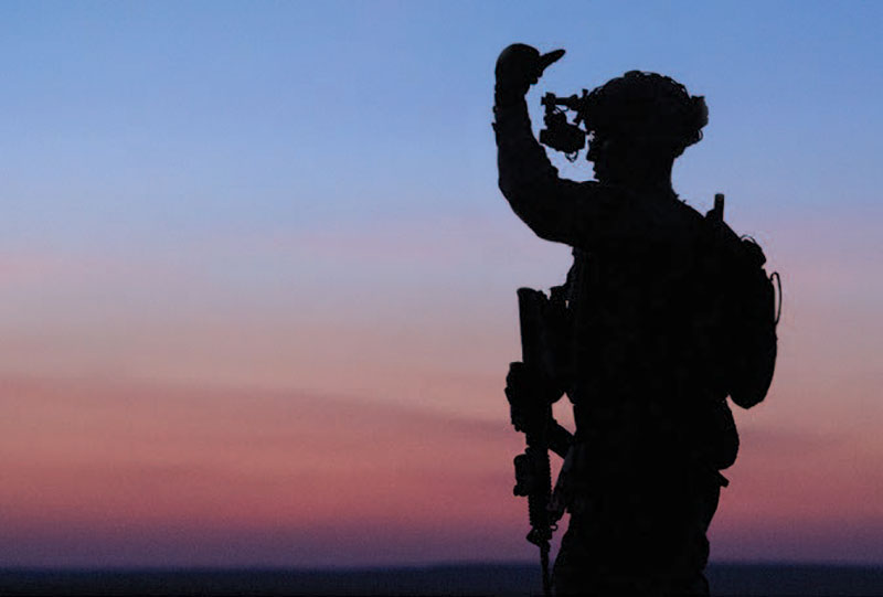 Picture of a Silhouetted Soldier